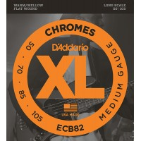 ECB82 Chromes струны для бас-гитары, Medium, 50-105, Long Scale, D'Addario