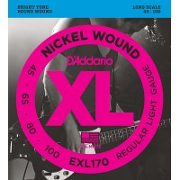 EXL170 XL NICKEL WOUND Струны для бас-гитары Long Regular Light 45-100 D`Addario