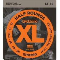 EHR360 Half Round  струны  для электрогитары, Jazz Medium, 13-56, D'Addario
