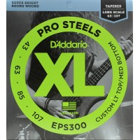 EPS300 ProSteels  струны для бас-гитары Lt top/Med bottom D'Addario